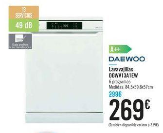 Oferta de Lavavajillas DDWV13A1EW DAEWOO por 269€