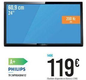 """Oferta de TV 24"""" 24PHS4304/12 PHILIPS por 119€"""