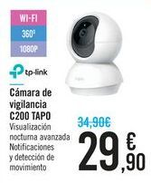 Oferta de Cámara de vigilancia C200 TAPO TP-LINK por 29,9€