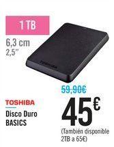 Oferta de Disco duro BASICS TOSHIBA por 45€