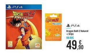 Oferta de Dragon Ball Z Kakarot + Grips PS4 por 49,9€