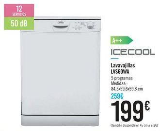 Oferta de Lavavajillas LVS60WA ICECOOL  por 199€