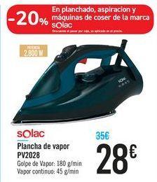 Oferta de Plancha de vapor PV2028 Solac por 28€
