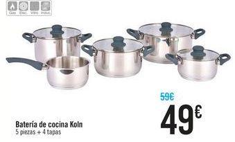 Oferta de Batería de cocina Koln por 49€