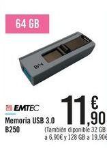 Oferta de Memoria USB 3.0 B250 por 11,9€