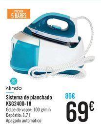 Oferta de Sistema de planchado KSG2400-18 Klindo por 69€