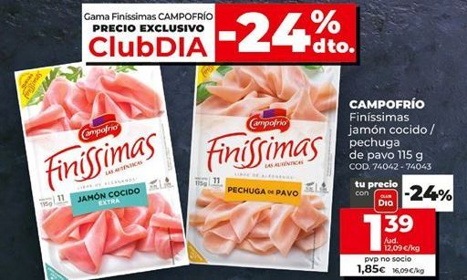 Oferta de Loncheados Campofrío por 1,39€