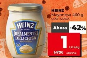 Oferta de Mayonesa Heinz por 1€