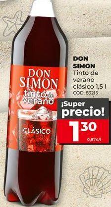 Oferta de Tinto de verano Don Simón por 1,3€