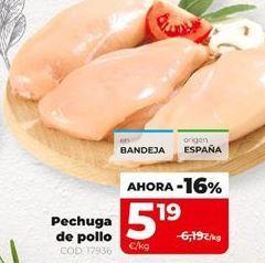 Oferta de Pechuga de pollo por 5,19€
