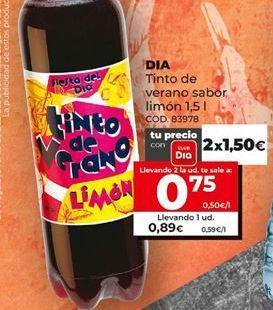 Oferta de Tinto de verano Dia por 0,75€