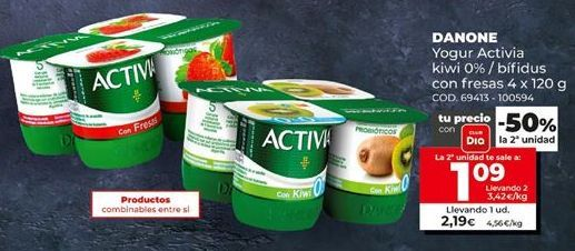 Oferta de Yogur Activia por 1,09€
