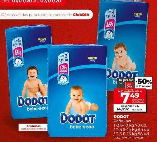 Oferta de Pañales Dodot por 7,49€