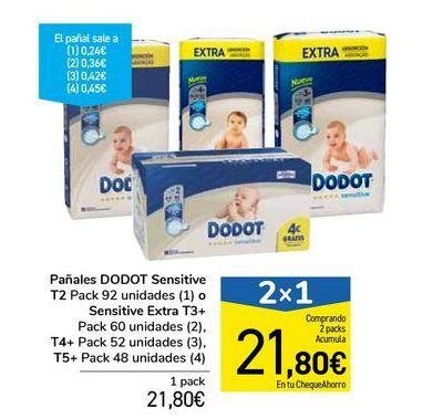 Oferta de Pañales DODOT Sensitive  por 21,8€