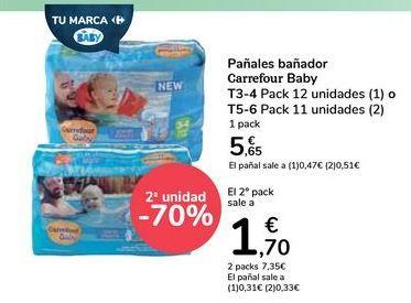 Oferta de Pañales bañador Carrefour Baby  por 5,65€