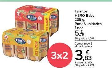 Oferta de Tarritos HERO Baby por 5,75€