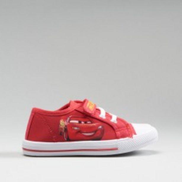 Oferta de Zapatilla lona roja CARS por 7,99€