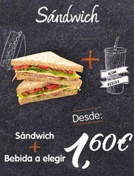 Oferta de Sandwiches por 1,6€