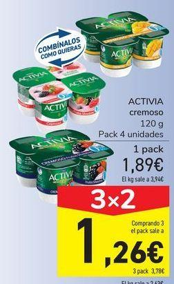 Oferta de ACTIVIA cremoso por 1,89€