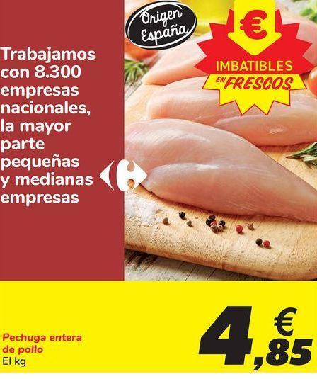 Oferta de Pechuga entera de pollo por 4,85€