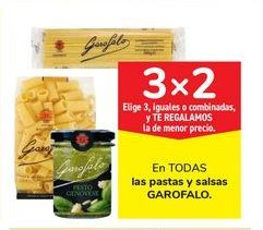 Oferta de En TODAS las pastas y salsas GAROFALO por