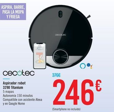 Oferta de Robot aspirador cecotec por 246€