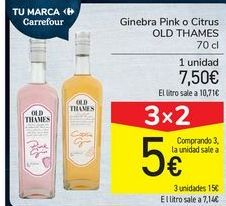 Oferta de Ginebra Pink o Citrus OLD THAME por 7,5€