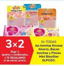 Oferta de En TODAS las lonchas Envase Ahorro, Bacon lonchas y Piezas Mini BienStar ELPOZO por