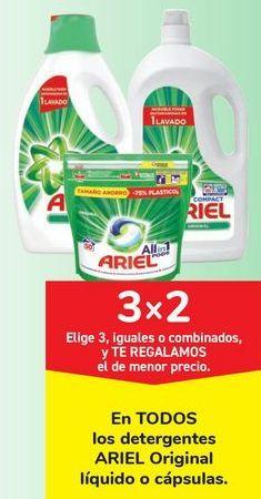 Oferta de En TODOS los detergentes ARIEL Original líquido o cápsulas. por