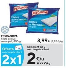 Oferta de Filetes de merluza Pescanova por 2€