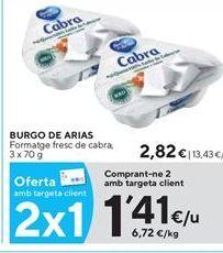 Oferta de Queso de cabra Burgo de Arias por 1,41€