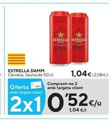 Oferta de Cerveza Estrella Damm por 0,52€