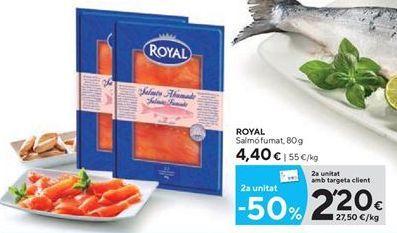 Oferta de Salmón ahumado Royal por 2,2€
