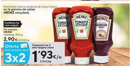 Oferta de Ketchup Heinz por 1,93€