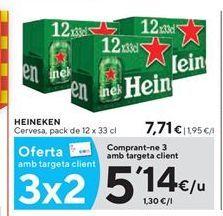 Oferta de Cerveza Heineken por 5,14€