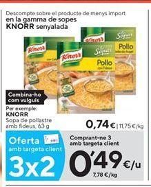 Oferta de Sopa de pollo Knorr por 0,49€