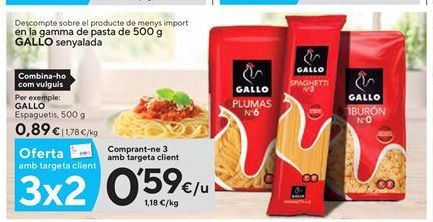 Oferta de Espaguetis Gallo por 0,59€
