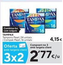 Oferta de Tampones Tampax por 2,77€