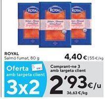 Oferta de Salmón ahumado Royal por 2,93€