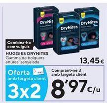 Oferta de Pañales Huggies por 8,97€