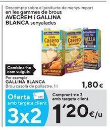 Oferta de Caldo de pollo Gallina Blanca por 1,2€