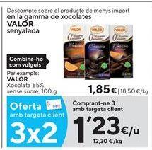 Oferta de Chocolate sin azúcar Valor por 1,23€