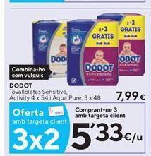 Oferta de Toallitas húmedas para bebé Dodot por 5,33€