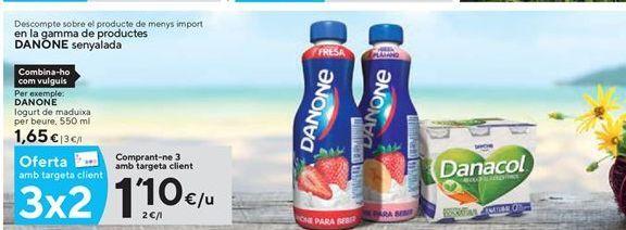 Oferta de Yogur líquido Danone por 1,1€