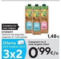 Oferta de Bebidas naturales ViveSoy por 0,99€