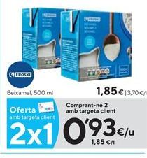 Oferta de Bechamel eroski por 0,93€