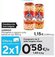 Oferta de Garbanzos Luengo por 0,58€