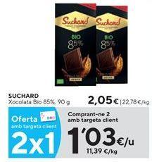 Oferta de Chocolate Suchard por 1,03€