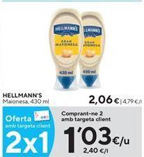 Oferta de Mayonesa Hellmann's por 1,03€