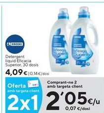 Oferta de Detergente líquido eroski por 2,05€
